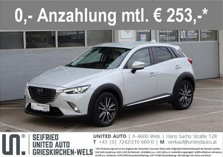 Mazda CX-3 CD105 A-4WD Revol. Top*ACC*LED*NAVI*LEDER*ACC* Revolution Top bei BM || Seifried United Auto Grieskirchen Wels in