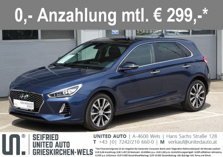 Hyundai i30 1,6 CRDi L. Style Plus DCT *VOLL-LED*PANORAMADACH* Launch Style Plus bei BM || Seifried United Auto Grieskirchen Wels in