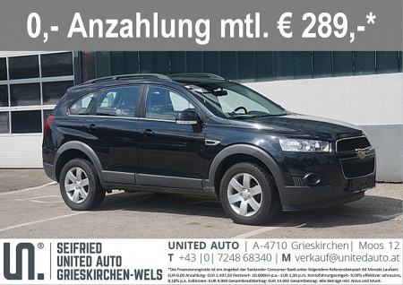 Chevrolet Captiva LT 2,2 2WD *TEMPOMAT* bei BM || Seifried United Auto Grieskirchen Wels in