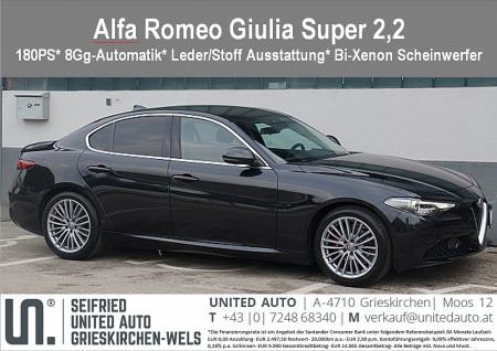 Alfa Romeo Giulia Super 2,2 180 AT RWD bei BM || Seifried United Auto Grieskirchen Wels in