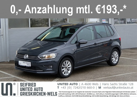 VW Golf Sportsvan Lounge 1,6 BMT TDI DSG*Navi*Sitzheizung*Tempomat*uvm* bei BM || Seifried United Auto Grieskirchen Wels in