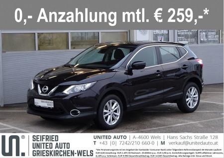 Nissan Qashqai 1,6 dCi AC. Aut.*Navi*Sicherheitspakete*Winterpaket*uvm. bei BM || Seifried United Auto Grieskirchen Wels in