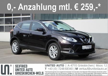 Nissan Qashqai 1,6 dCi Acenta Aut.*NAVI*SITZHEIZUNG*PDC* bei BM || Seifried United Auto Grieskirchen Wels in