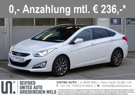 Hyundai i40 Style 1,7 CRDi Aut.*NAVI*XENON*PANORAMA*LEDER* bei BM || Seifried United Auto Grieskirchen Wels in