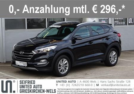 Hyundai Tucson 1,7 CRDI Ed. 25 DCT*Automatik*Navi*Rückfahrk*Winterpalet* Edition 25 bei BM || Seifried United Auto Grieskirchen Wels in