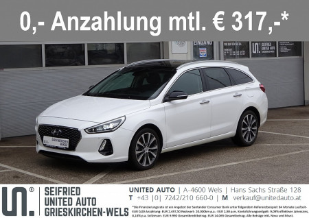 Hyundai i30 CW 1,6 CRDi Style Aut.*Panorama*Navi*LED*Vollausstattung* bei BM || Seifried United Auto Grieskirchen Wels in
