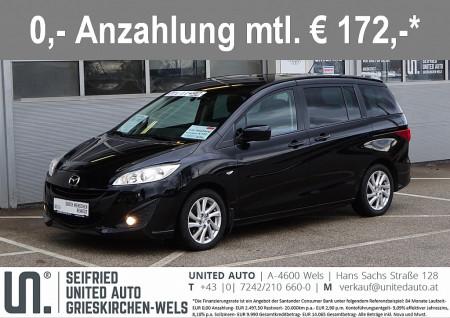 Mazda Mazda 5 CD116 TX*7-Sitze*Sitzheizung*8-fach Alu* bei BM || Seifried United Auto Grieskirchen Wels in