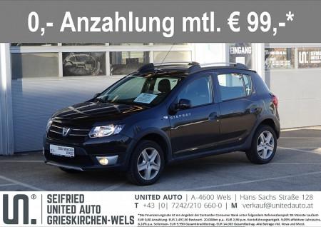 Dacia Sandero Stepway TCe 90*Navi*Bluetooth*Tempomat*8-fach Bereift* bei BM || Seifried United Auto Grieskirchen Wels in