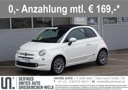 Fiat 500C 1,2 69 Lounge*Cabrio*Navi*PDC*Alu*uvm* bei BM || Seifried United Auto Grieskirchen Wels in