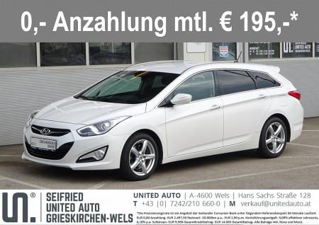 Hyundai i40 Premium 1,7 CRDi*8-fach Alu*Multifunktionsl.*Winterpaket*uvm* bei BM    Seifried United Auto Grieskirchen Wels in