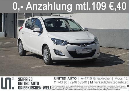 Hyundai i20 1,25 Life bei BM    Seifried United Auto Grieskirchen Wels in