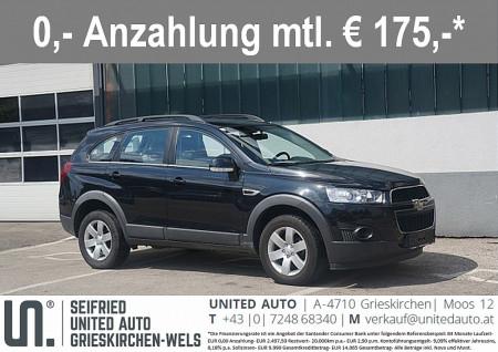 Chevrolet Captiva LT 2,2 2WD *Erstbesitz*AHK* keine Anzahlung € 175,- mtl. bei BM || Seifried United Auto Grieskirchen Wels in