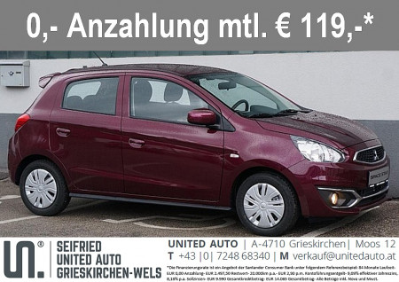 Mitsubishi Space Star 1,0 MIVEC Inform AS&G bei BM || Seifried United Auto Grieskirchen Wels in