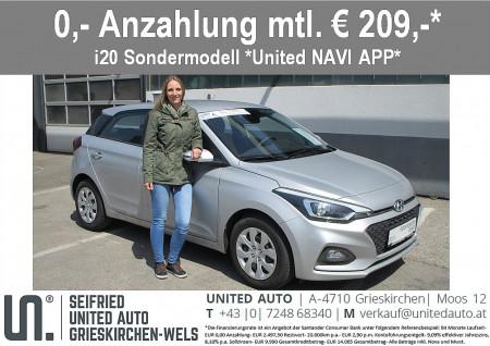 Hyundai i20 1,25 Level 3 Navi-App Edition, Rückfahrkamera, beheizb. Lenkr., Sitzheizg., Einparkhilfe hinten bei BM    Seifried United Auto Grieskirchen Wels in