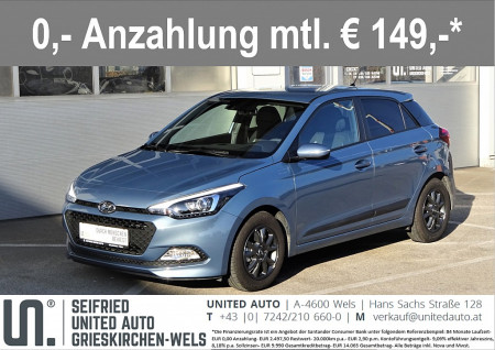 Hyundai i20 1,25 Ed.25*Sommer+Winterräder*Tempomat*uvm* Edition 25 bei BM    Seifried United Auto Grieskirchen Wels in