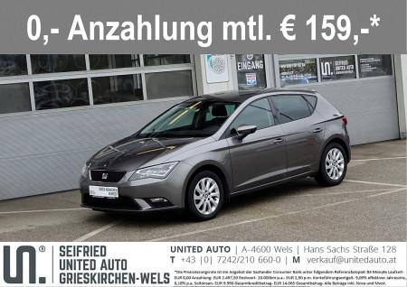 Seat Leon Salsa 1,6 TDI CR*Voll-LED*Touchscreen*Bluetooth*uvm* bei BM    Seifried United Auto Grieskirchen Wels in