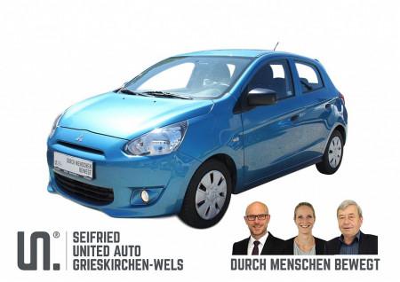 Mitsubishi Space Star 1,0 MIVEC AS&G Inform * 8-fach bereift * Klima bei BM || Seifried United Auto Grieskirchen Wels in