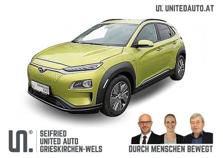 Hyundai Kona Elektro Level 5*kühlb.Sitze-Leder hell-RW 449 KM bei BM || Seifried United Auto Grieskirchen Wels in