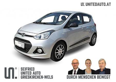 Hyundai i10 1,0 Black Line *Klima-Temp-Einp.-WR+SR-Service+Bremsen NEU* bei BM || Seifried United Auto Grieskirchen Wels in