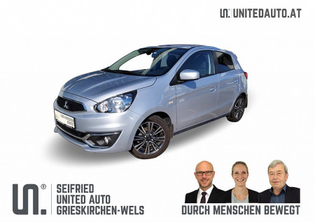Mitsubishi Space Star 1,2 Invite Autom. *Navi, SR+WR ALU, Unterbodenschutz TOP, Sitzhzg.* Invite Connect bei BM || Seifried United Auto Grieskirchen Wels in