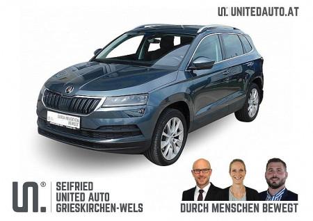 Skoda Karoq 2,0 TDI SCR 4×4 Style DSG *LED*ACC*NAVI*VARIO SITZ* bei BM || Seifried United Auto Grieskirchen Wels in