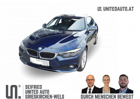 BMW 418d Gran Coupe Advantage Aut.*LED, Navi groß, el. Heckkl., Leder, Shzg* bei BM || Seifried United Auto Grieskirchen Wels in