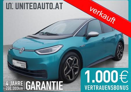 VW ID. 3 1st Ed Plus mit WP * netto € 27.656,- * exkl. Invest/Öko-Förd. bis 02/2021 bei BM || Seifried United Auto Grieskirchen Wels in