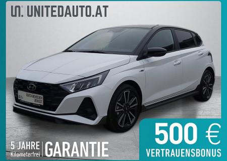 Hyundai i20 1,0 T-GDI N-Line 48V *Spurhalteass.*Klimaautomatik*Rückfahrkamera*Schwarzes Dach*SHZ* bei BM || Seifried United Auto Grieskirchen Wels in