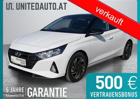 Hyundai i20 1,2 MPI i-Line Plus *Schwarzes Dach*Rückfahrkamera*Sitzheizung*Tempomat* bei BM || Seifried United Auto Grieskirchen Wels in