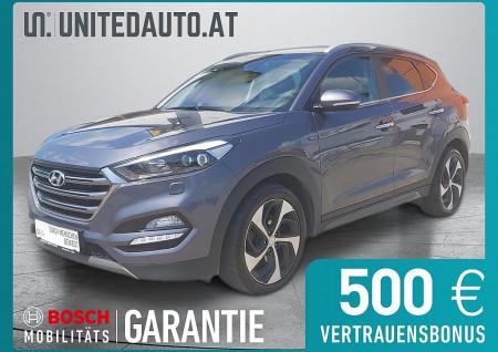 Hyundai Tucson 1,6 T-GDI 4WD DCT *3D-NAVI, PDC vo + hi, RF-Kam, 8-fach, Climatronic* bei BM || Seifried United Auto Grieskirchen Wels in
